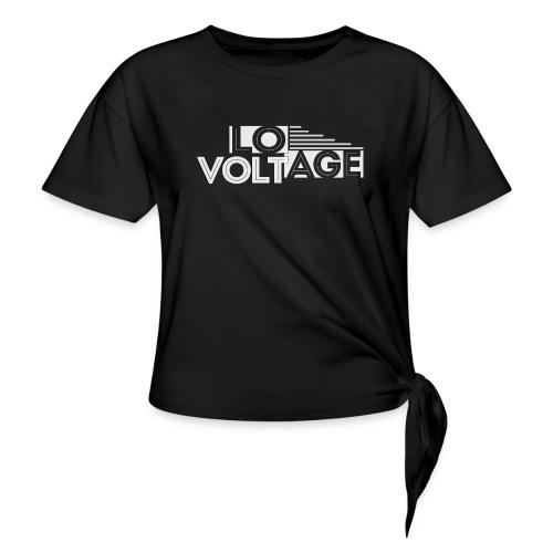 Logo kompakt weiss 1 - Frauen Knotenshirt