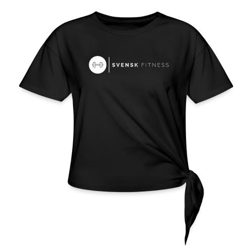 Linne med logo - T-shirt med knut dam