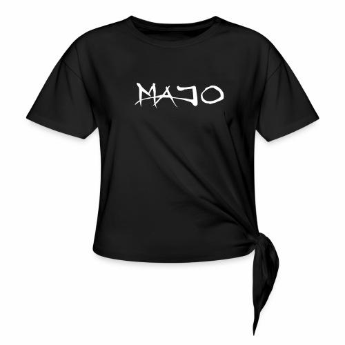 Majo Raw - T-shirt med knut dam