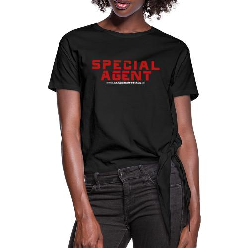 Emblemat Special Agent marki Akademia Wywiadu™ - Koszulka damska z wiązaniem