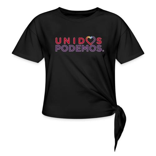 Taza Unidos Podemos 2016 Blanca - Camiseta con nudo mujer