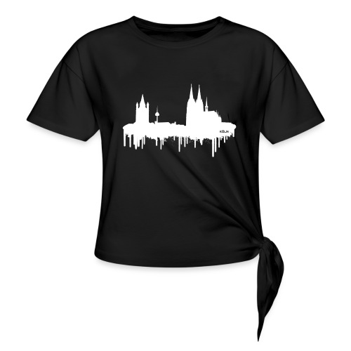 Skyline Köln - Weiß - Knotenshirt