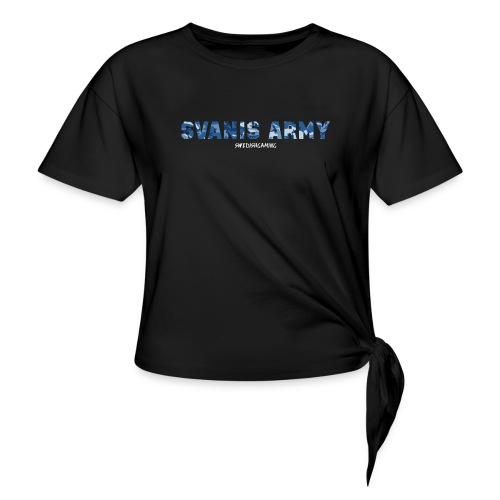 SVANIS ARMY, SWEDISHGAMING - T-shirt med knut dam