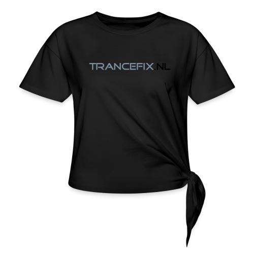 trancefix text - Knotted T-Shirt