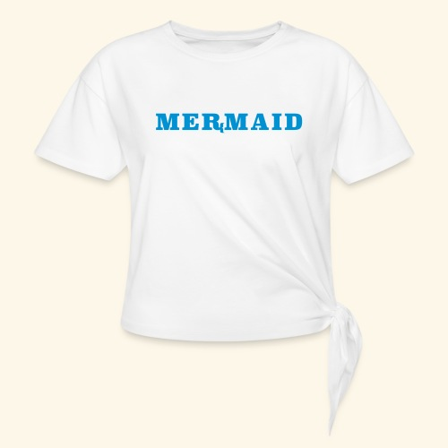 Mermaid logo - T-shirt med knut dam