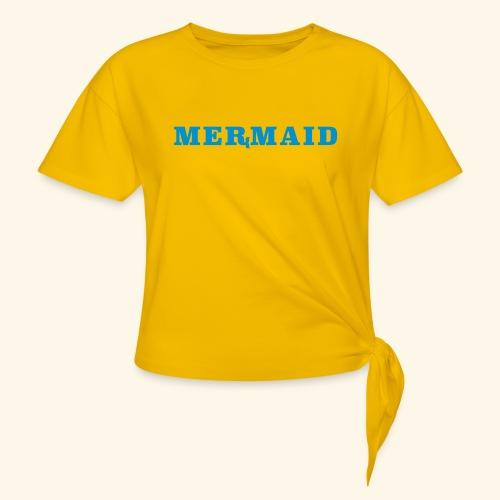 Mermaid logo - T-shirt med knut dam