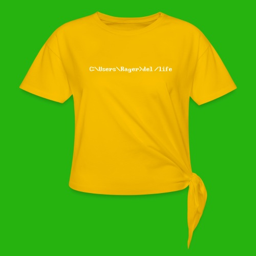 Programming Get A Life - Women's Knotted T-Shirt