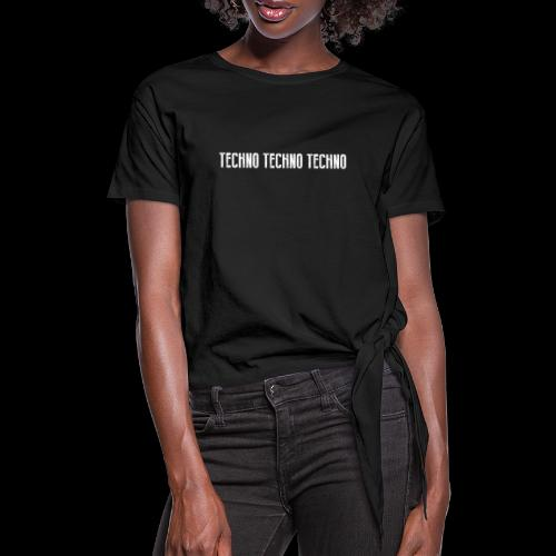 TECHNO TECHNO TECHNO - Women's Knotted T-Shirt