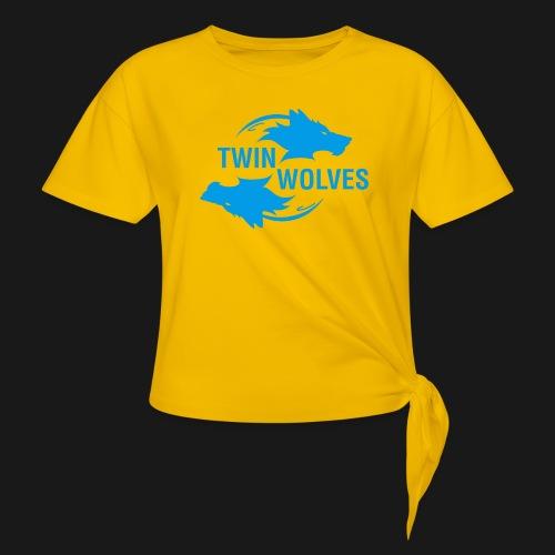 Twin Wolves Studio - Maglietta annodata da donna