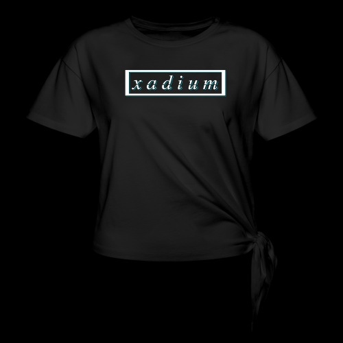 Blue Backshadow - Women's Knotted T-Shirt