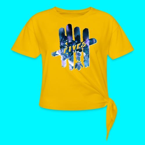FIVES space flowers - T-shirt à nœud