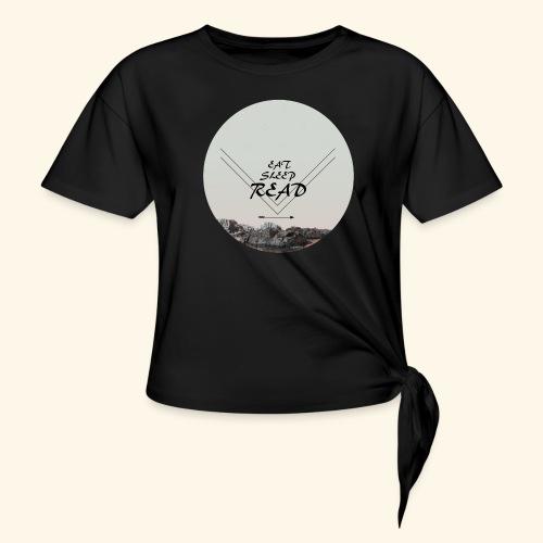Eat, Sleep, Read - T-shirt med knut