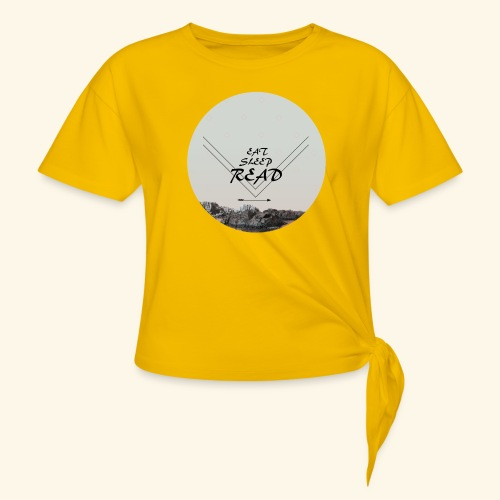 Eat, Sleep, Read - T-shirt med knut dam