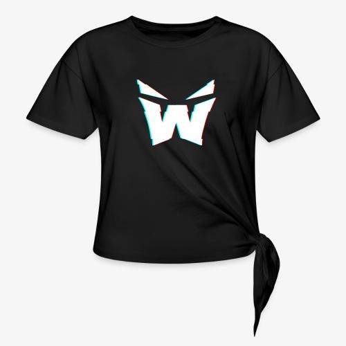 MAN'S VORTEX DESIGN - Women's Knotted T-Shirt