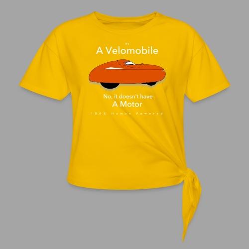 it's a velomobile white text - Solmupaita