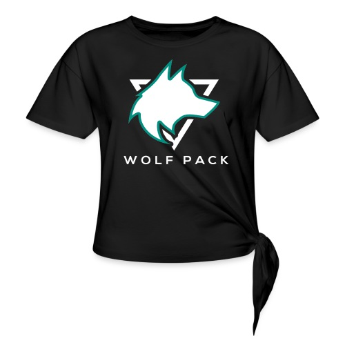 Wolf Pack Logo (NEW) - Knotted T-Shirt
