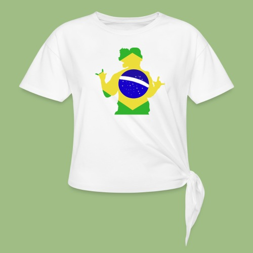Ronaldinho Brazil - T-shirt med knut dam