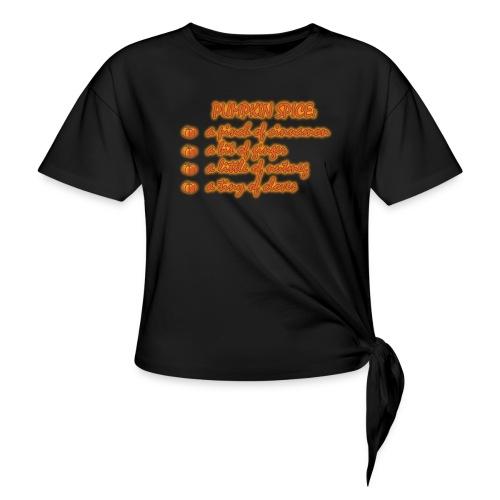PumpkinSpiceRecipe - Maglietta annodata