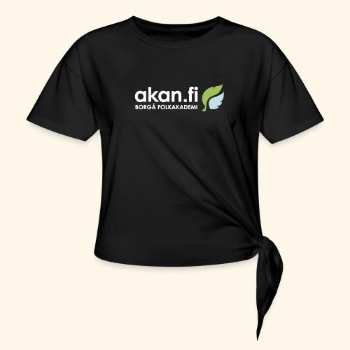 Akan White - T-shirt med knut