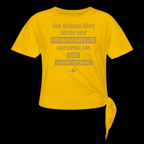 Menschenrechte - Knotenshirt