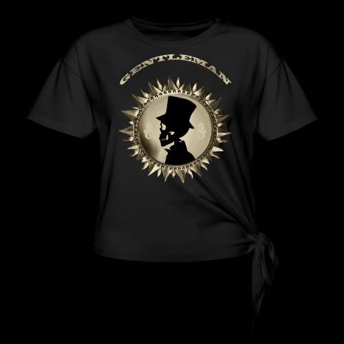 TÊTE DE MORT SILHOUETTE PORTRAIT GENTLEMAN - T-shirt à nœud