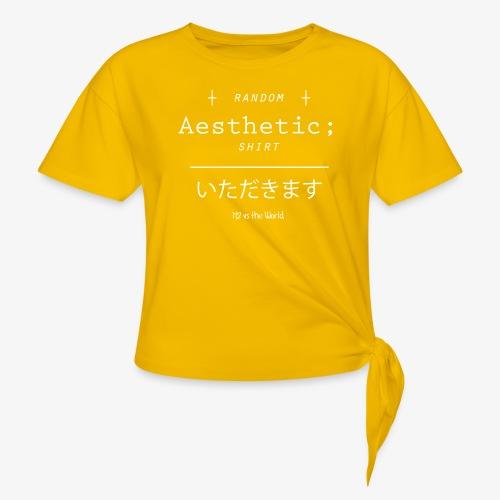 Random Aesthetic - Maglietta annodata da donna