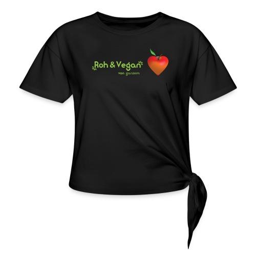 Roh & Vegan rotes Apfelherz (Rohkost) - Knotenshirt