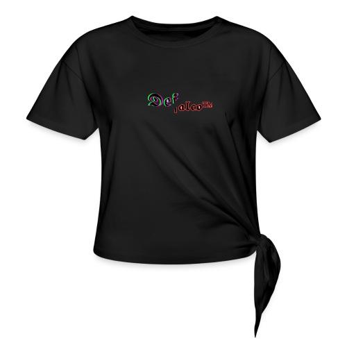 defalco glitch x deface old london - Vrouwen Geknoopt shirt
