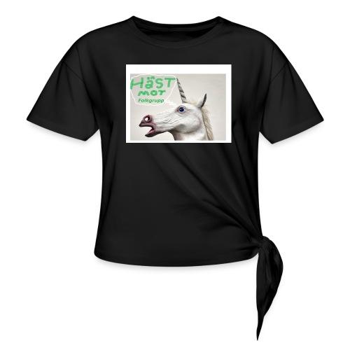 haest mot folkgrupp - T-shirt med knut dam