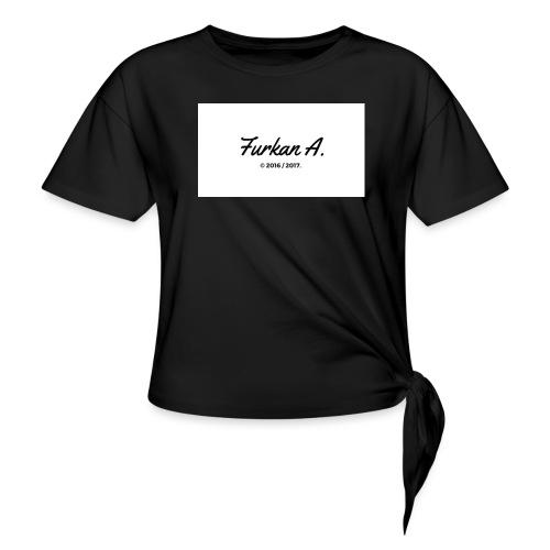 Furkan A - Zwarte Mok - Vrouwen Geknoopt shirt