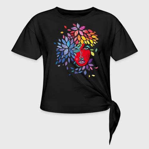 Femme cheveux de fleurs - T-shirt à nœud Femme