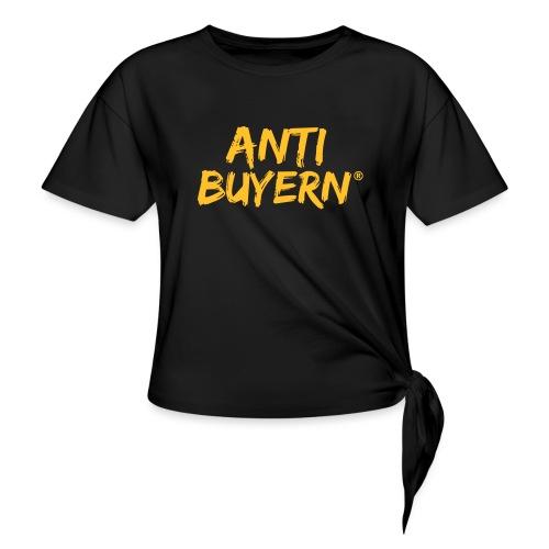 ANTI BUYERN YELLOW - Frauen Knotenshirt