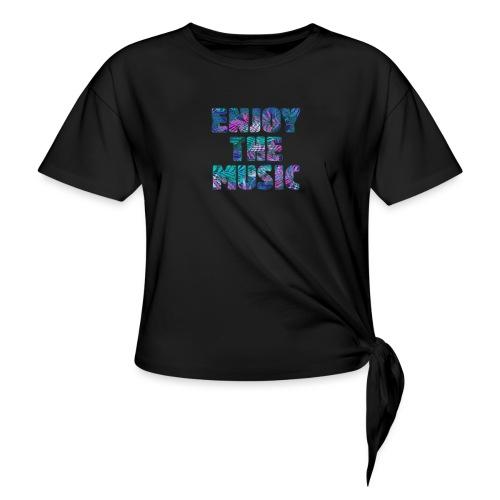 ENJOYTHEMUSIC PALMTREE - Camiseta con nudo mujer