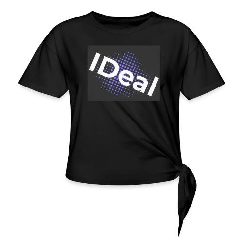 IDeal loggo - T-shirt med knut dam