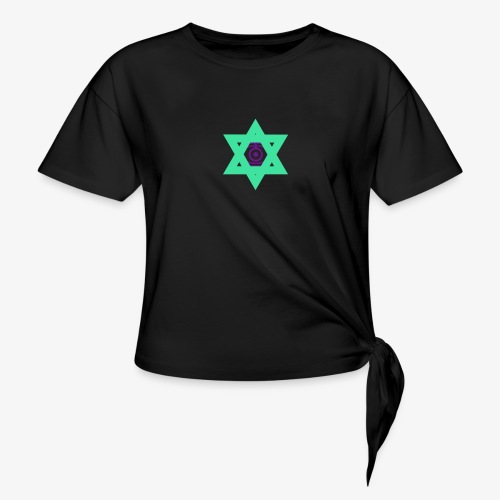 Star eye - Women's Knotted T-Shirt