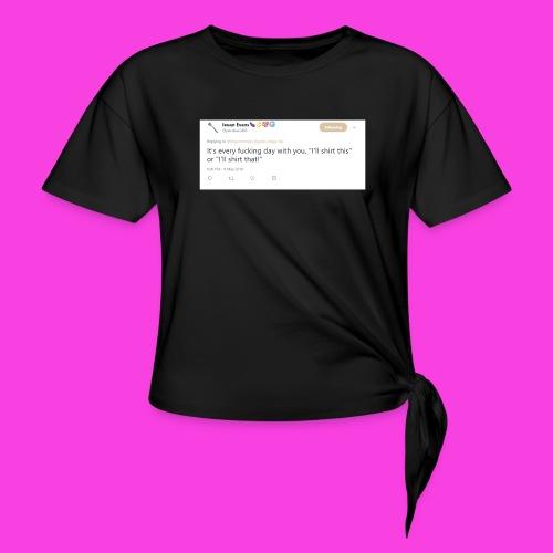 Ieuan Tweet - Women's Knotted T-Shirt