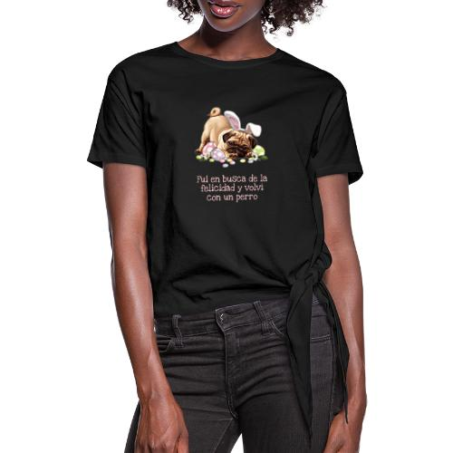 coleccion de la felicidad - Camiseta con nudo mujer