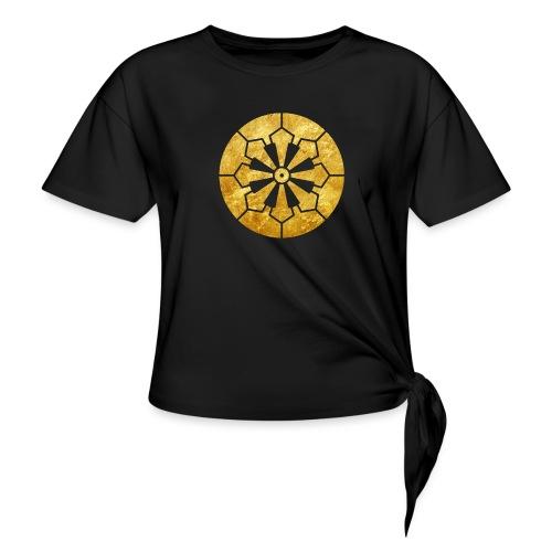 Sanja Matsuri Komagata mon gold - Women's Knotted T-Shirt