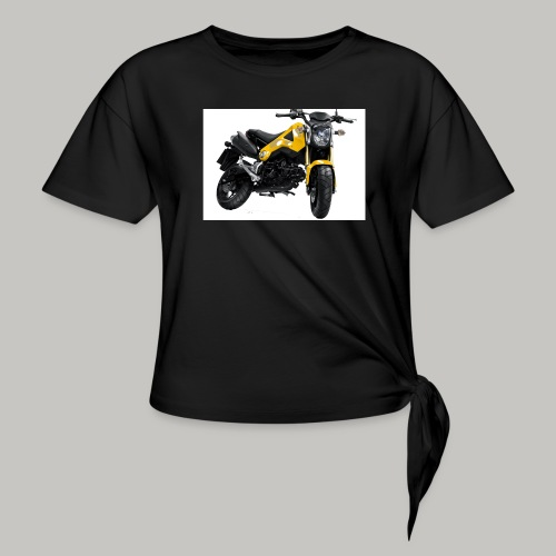 Grom Motorcycle (Monkey Bike) - Women's Knotted T-Shirt
