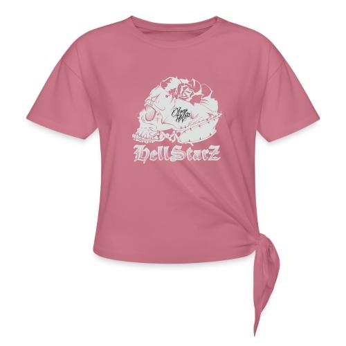 HELLSTARZ Skull Logo - T-shirt à nœud Femme