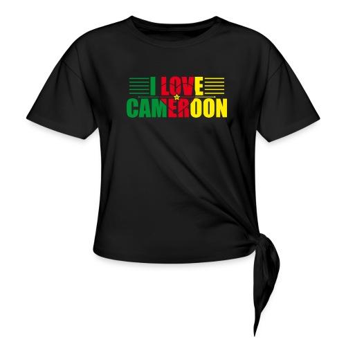 love cameroun - T-shirt à nœud
