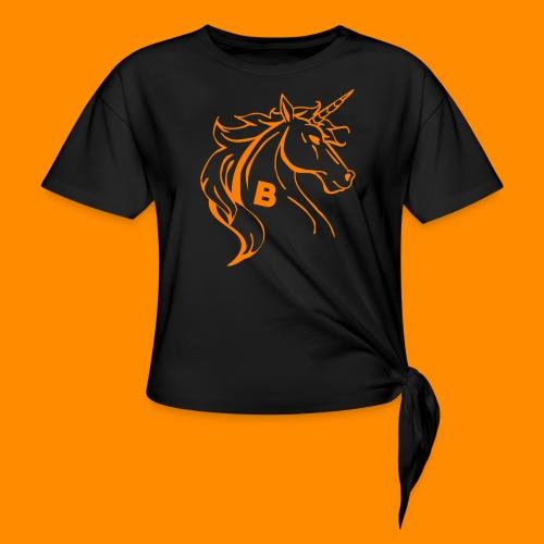 orange biodusty unicorn shirt - Geknoopt shirt