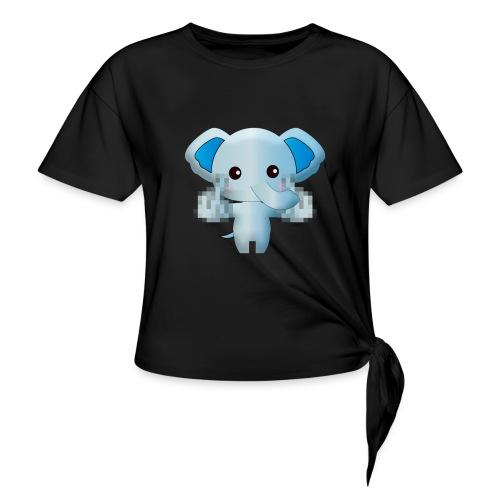 Éléphant F*** - T-shirt à nœud Femme