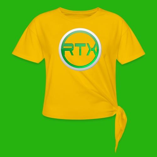 Logo SnapBack - Women's Knotted T-Shirt