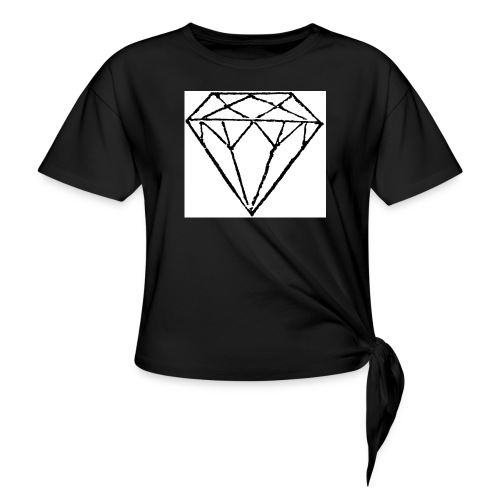 Diamond - T-shirt med knut dam