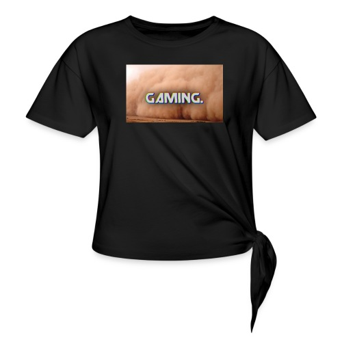 GamingDust LOGO - Women's Knotted T-Shirt