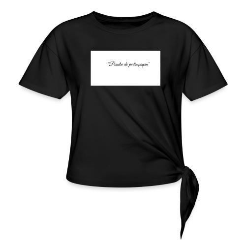 Happy - T-shirt à nœud Femme