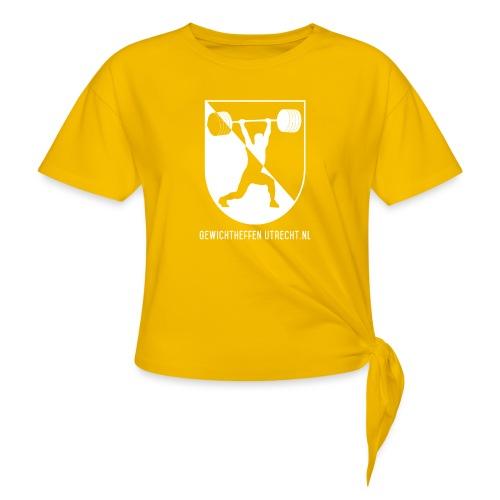 Gewichtheffen Utrecht Logo Shirt - Vrouwen Geknoopt shirt