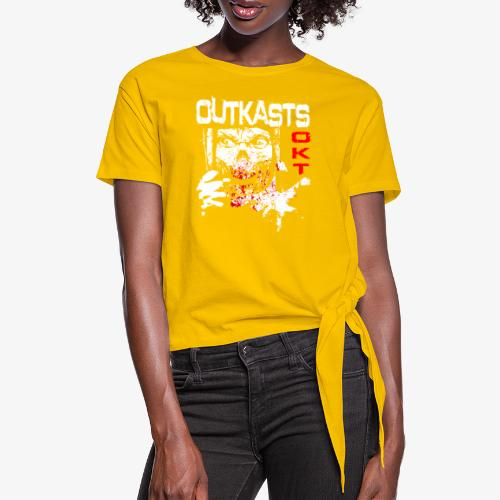 Outkasts Scum OKT Front - Women's Knotted T-Shirt