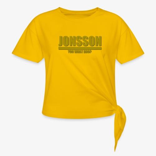 You what bro? - T-shirt med knut dam